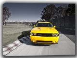 Yellow Dodge Challenger Canvas. Sizes: A4/A3/A2/A1 (002273)
